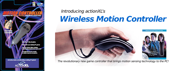 ActionXL motion controllers